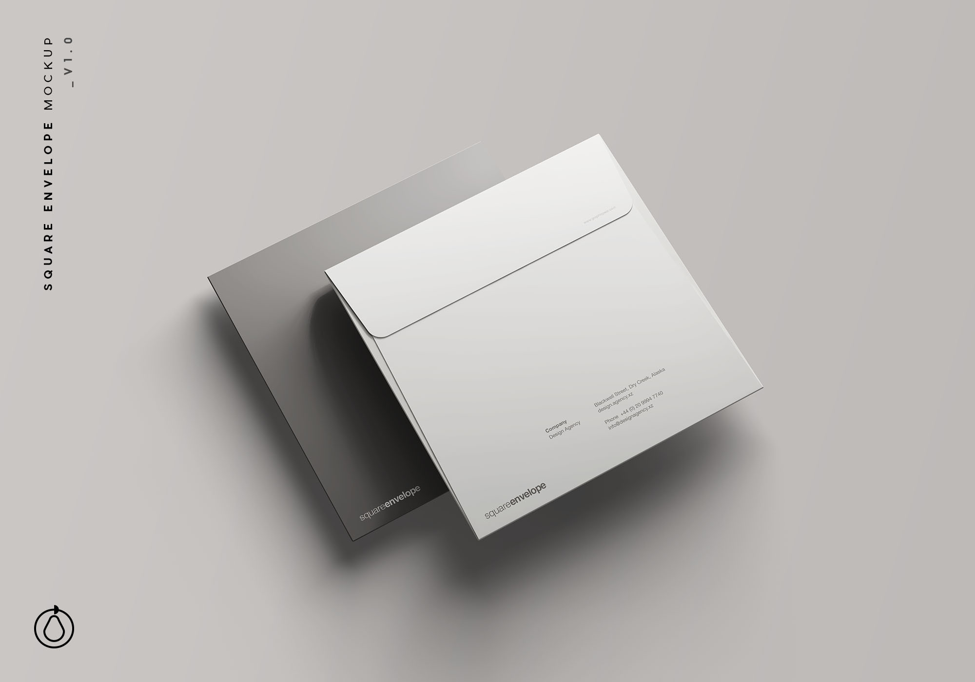 Square Envelope Mockup