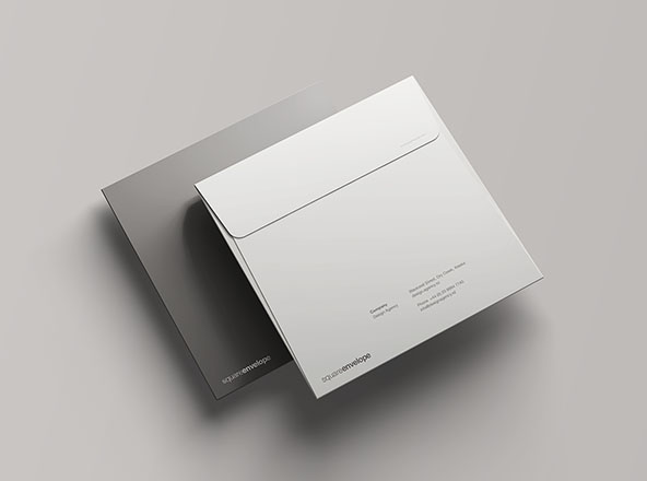 Square Envelope Mockup