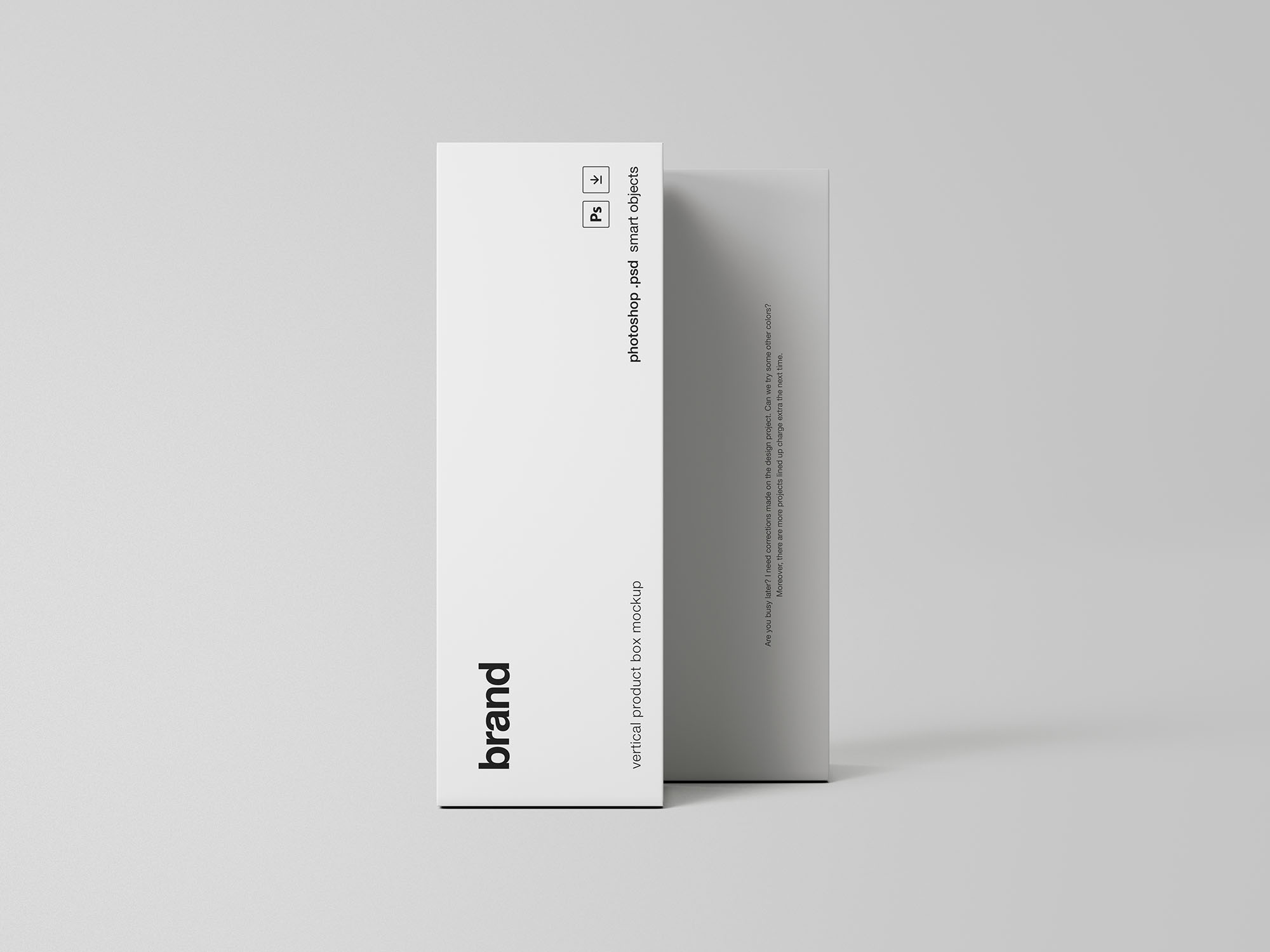 Vertical Product Box Mockup