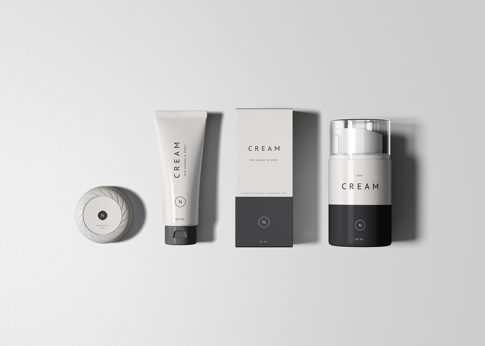 Cosmetics Packaging Set Mockup