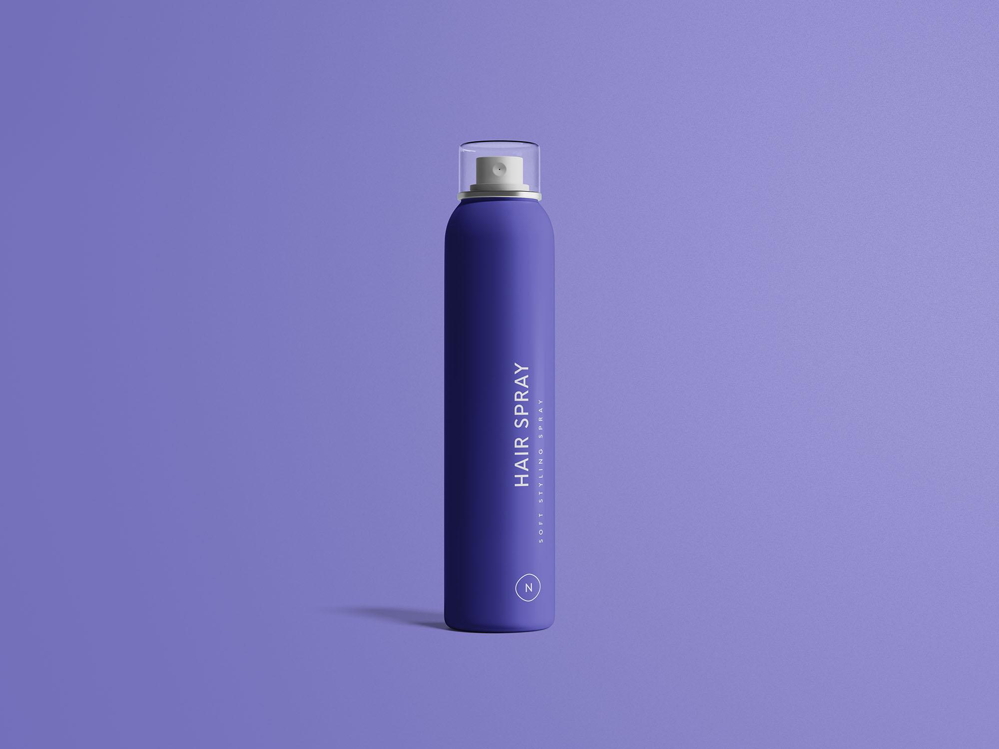 Hair Spray Bottle Mockup