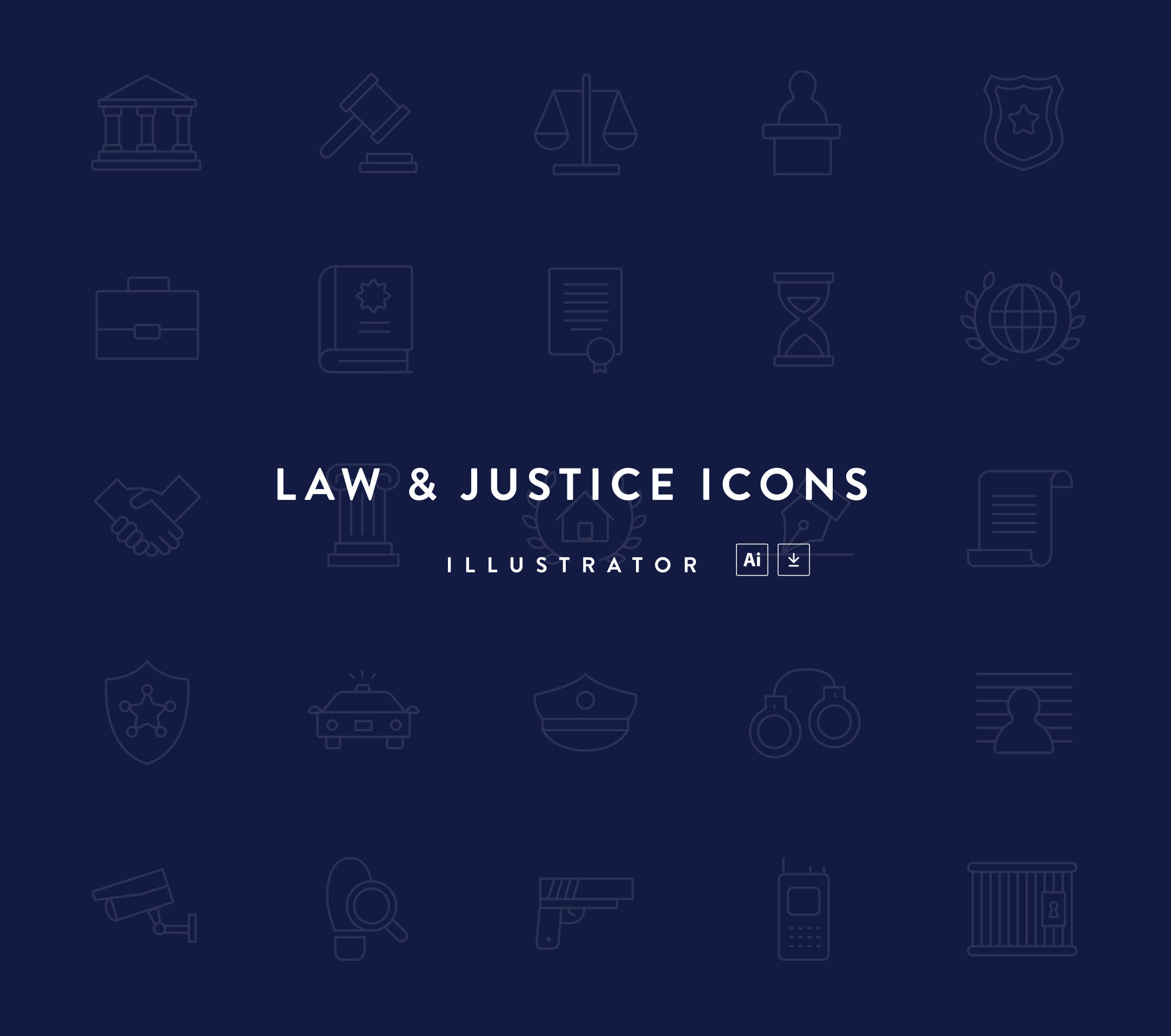 Law & Justice Icons