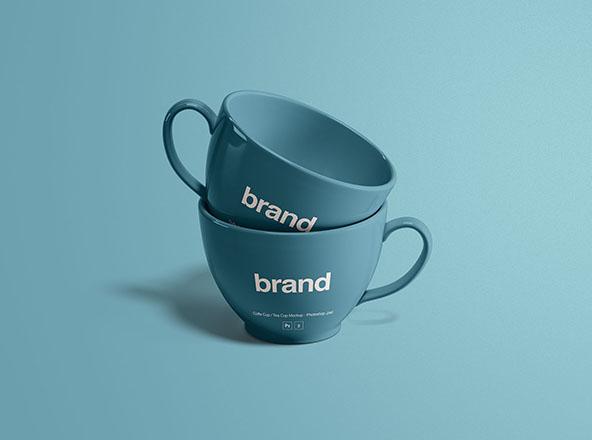 Tea Cups Mockup