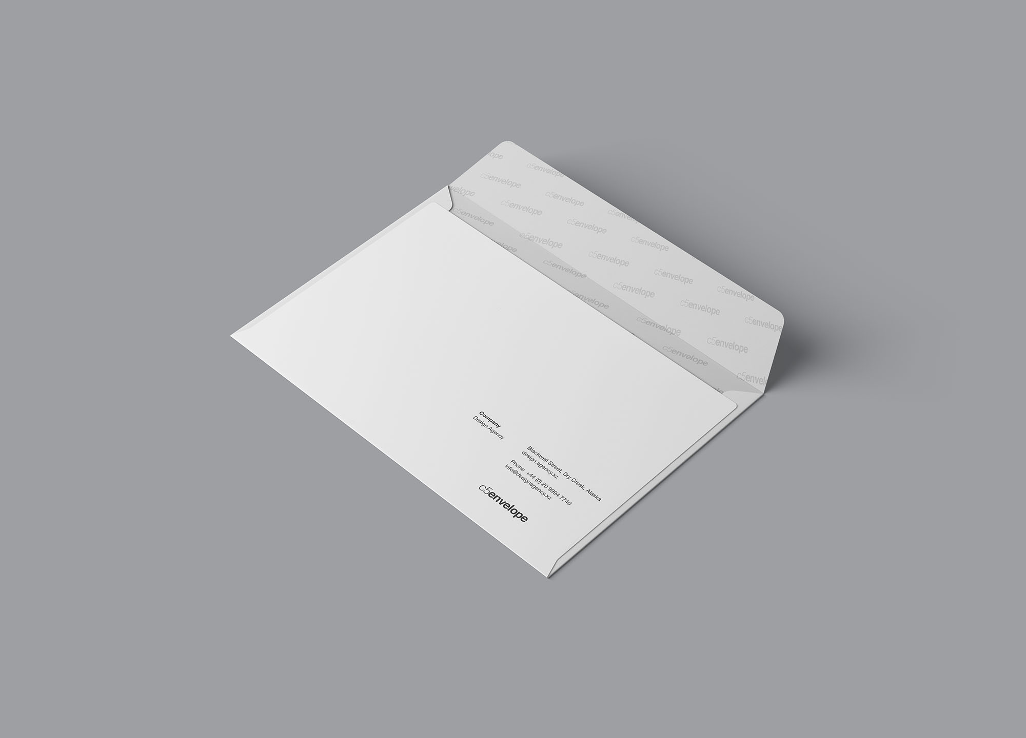 Opened C4 Envelope Mockup
