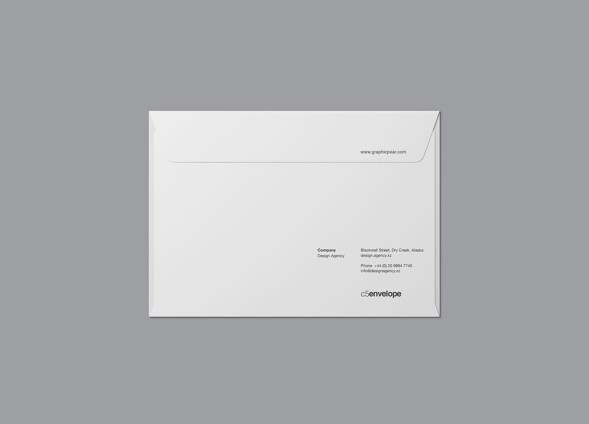 Front C4 Envelope Mockup
