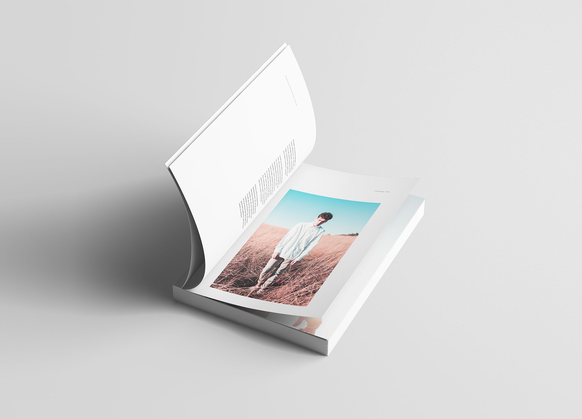 A5 Softcover Book Mockup