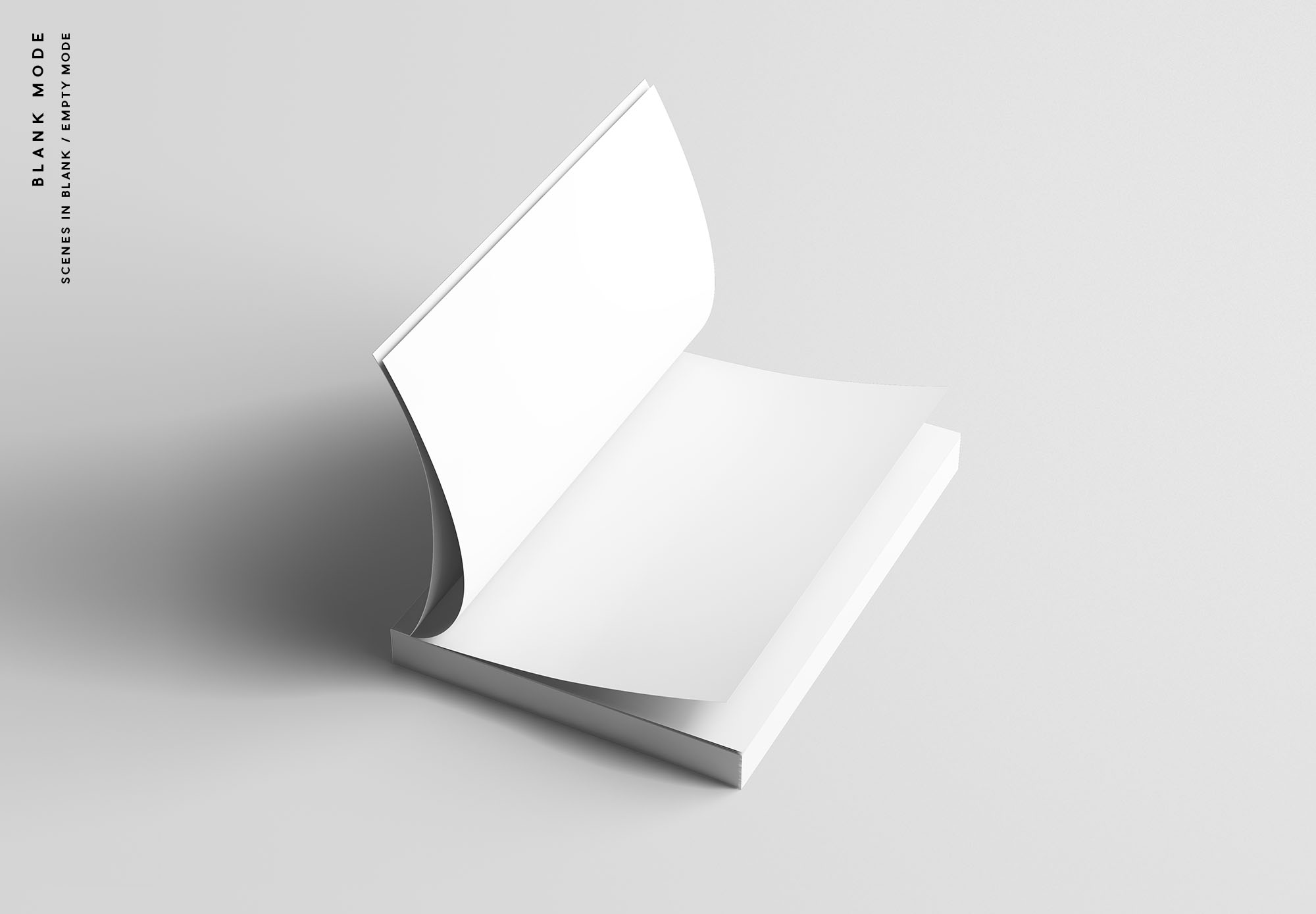 A5 Softcover Book Mockup - Blank Mode