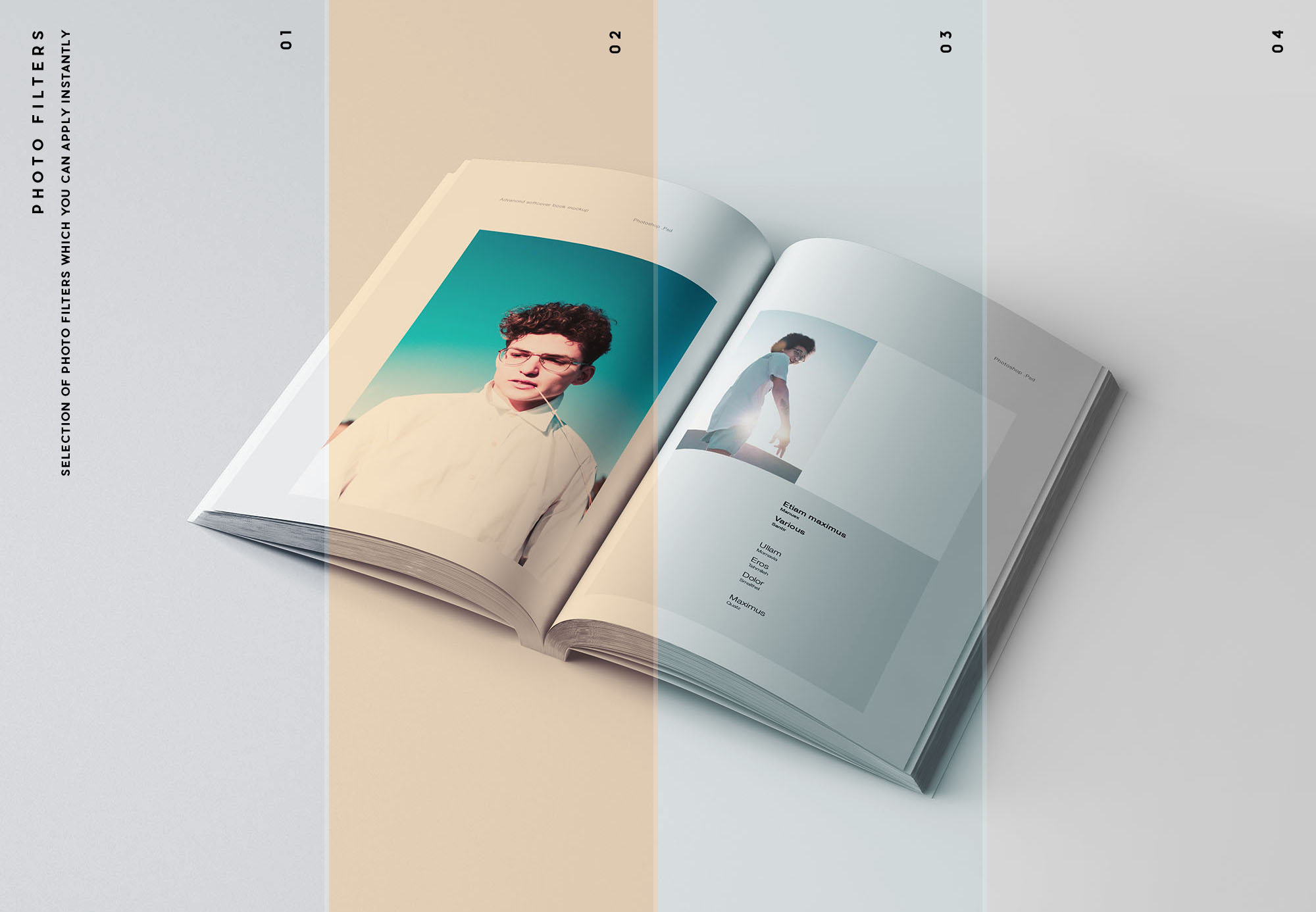 A5 Softcover Book Mockup Filters
