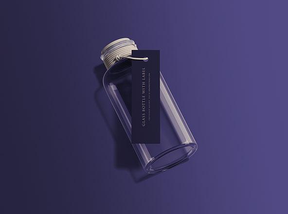 Bottle with Label Mockup