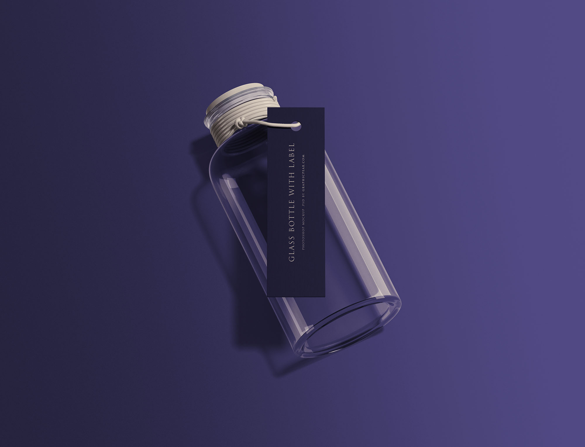Bottle with Tag Mockup
