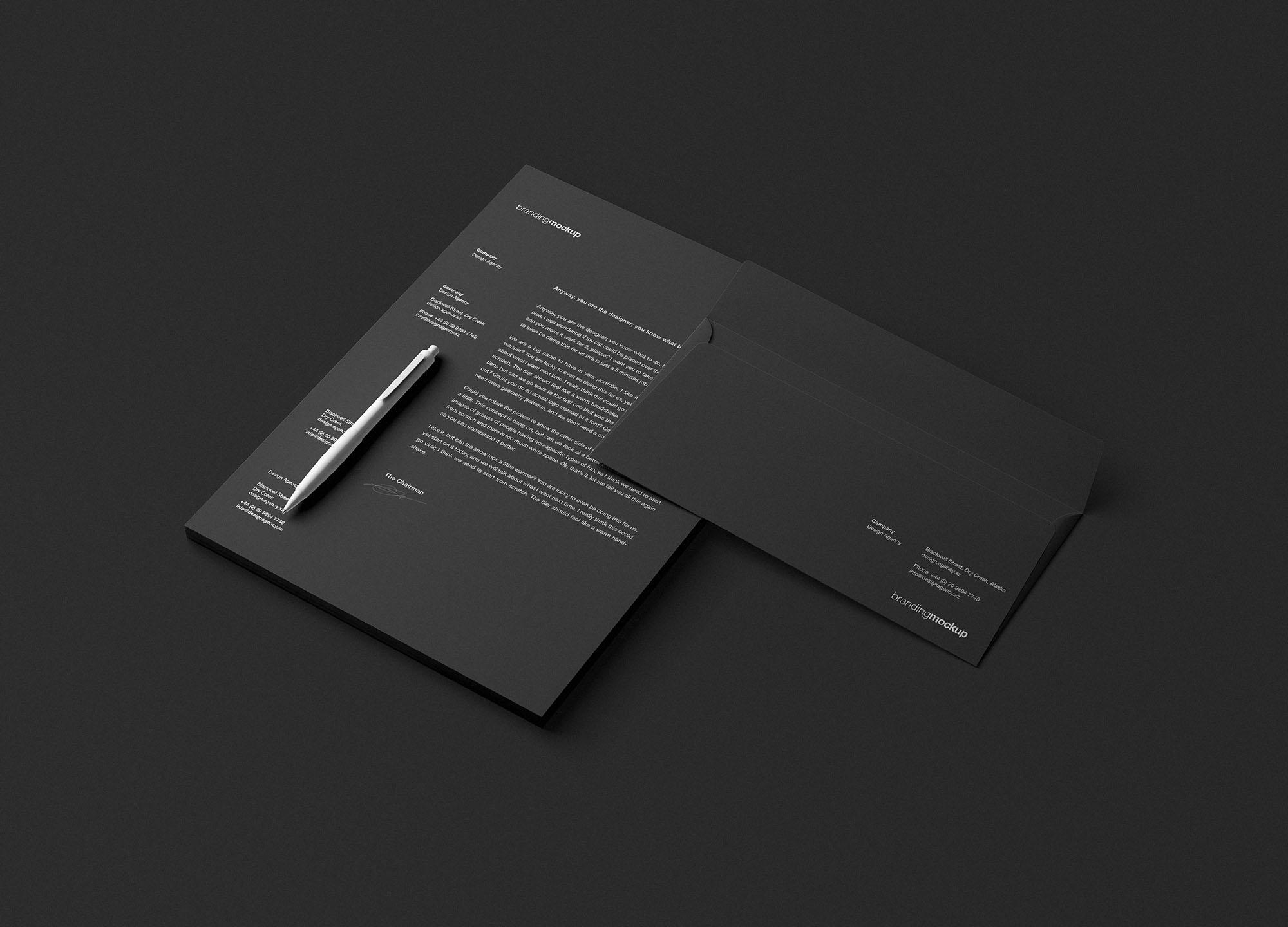 Branding Mockup Black