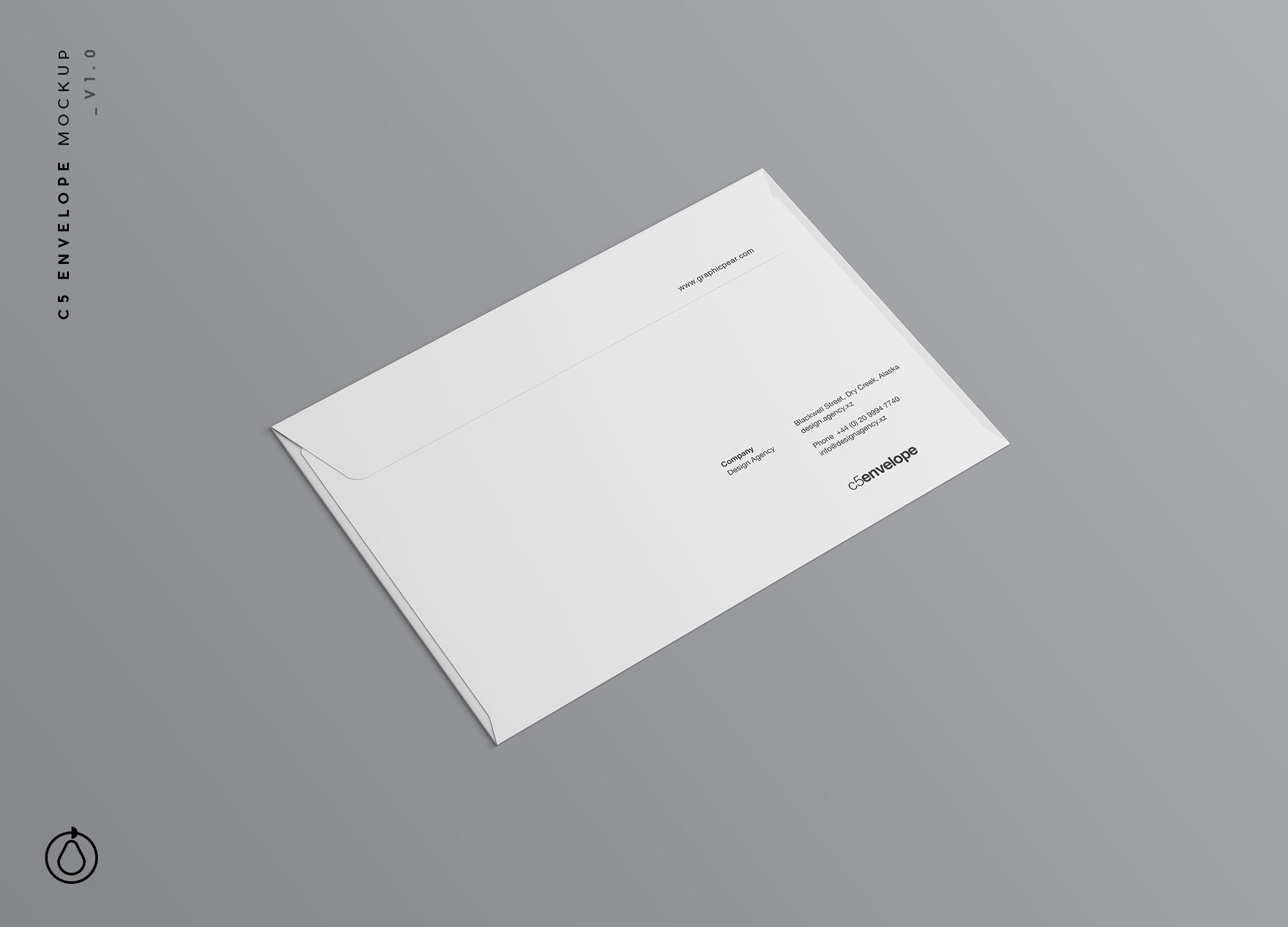 C5 Envelope Mockup PSD