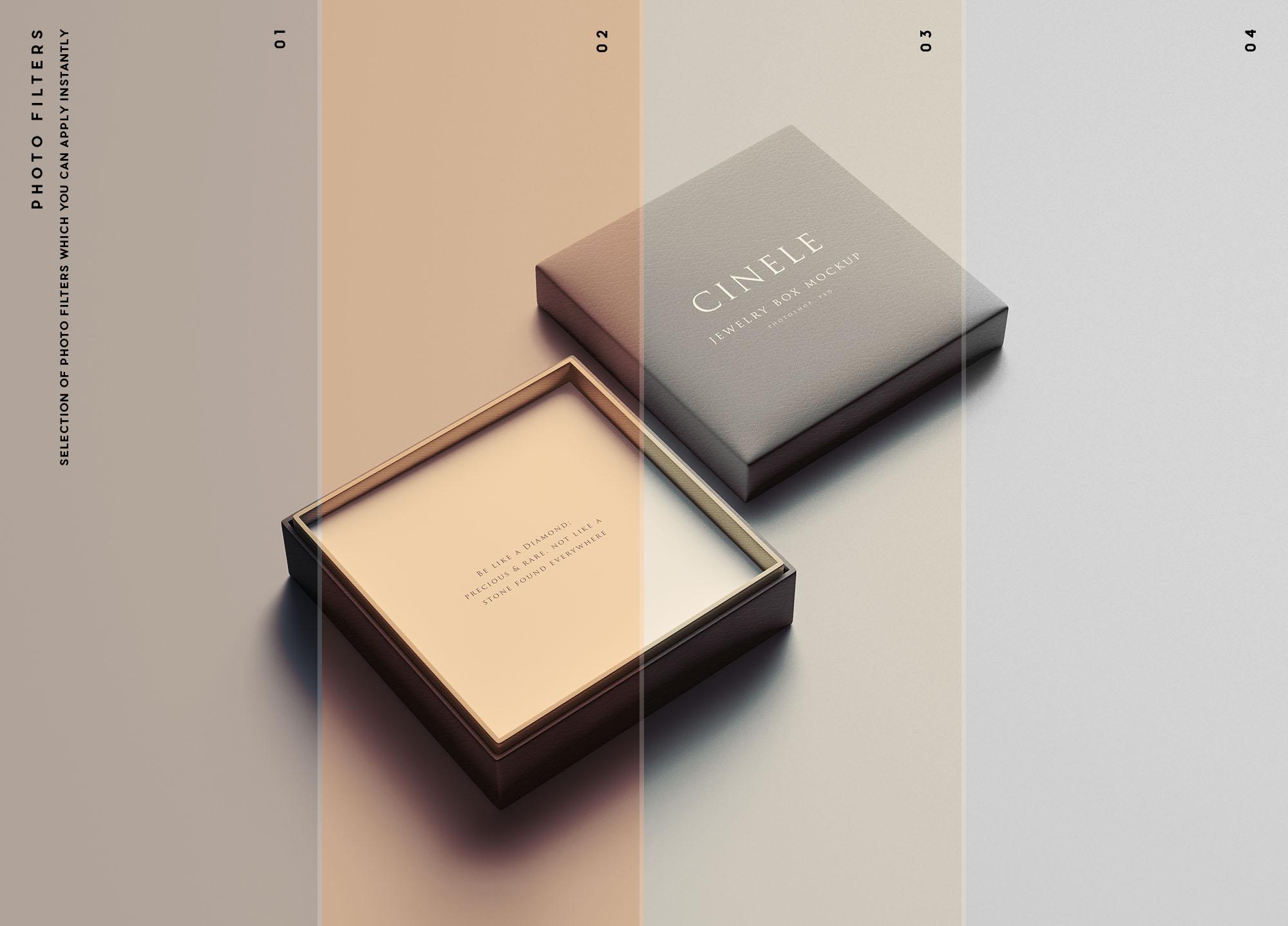 Jewelry Box Mockup Filters