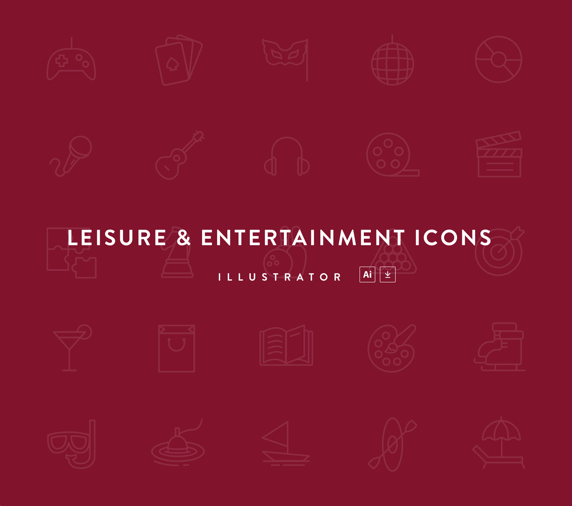 Leisure & Entertainment Icons