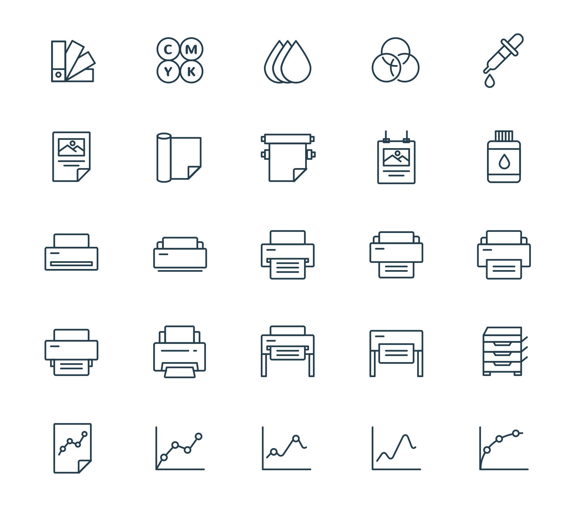 Printing & Plotting Icons