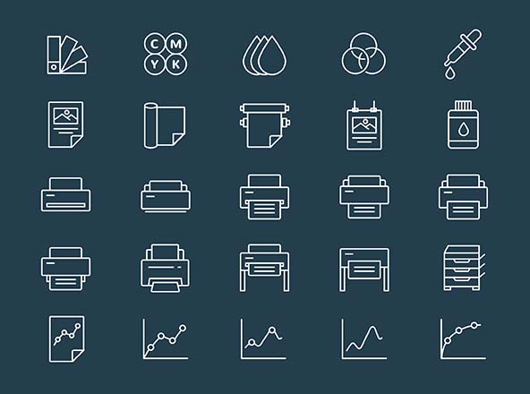 Printing & Plotting Icons