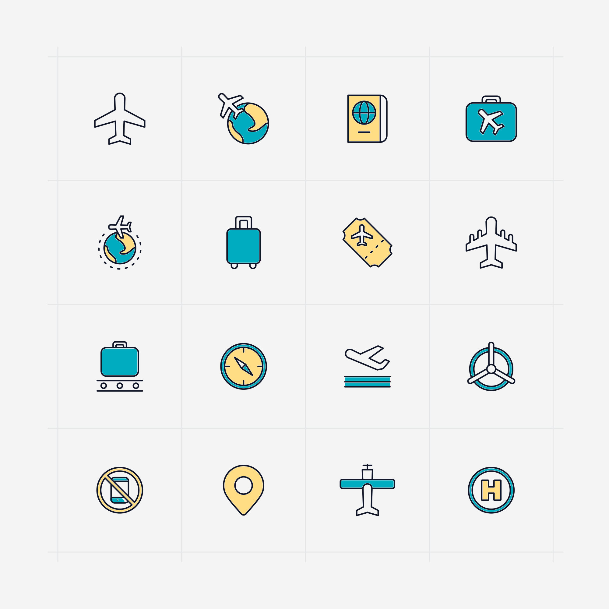 Vector Aviation Icons