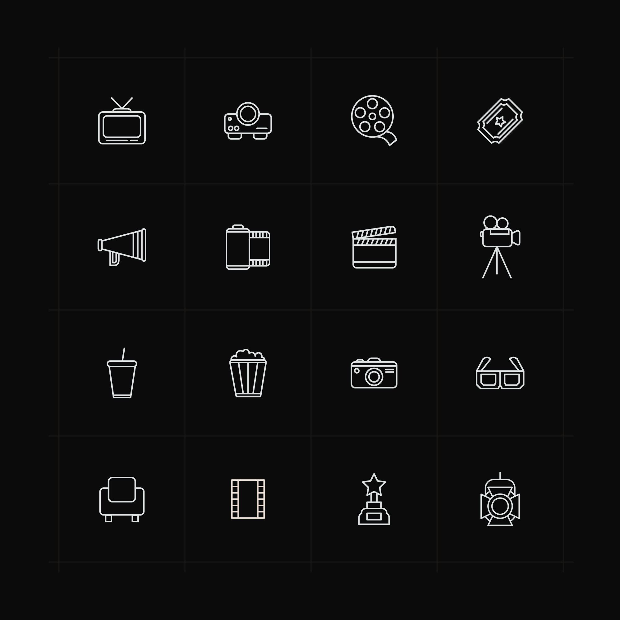 Cinema Icons Black
