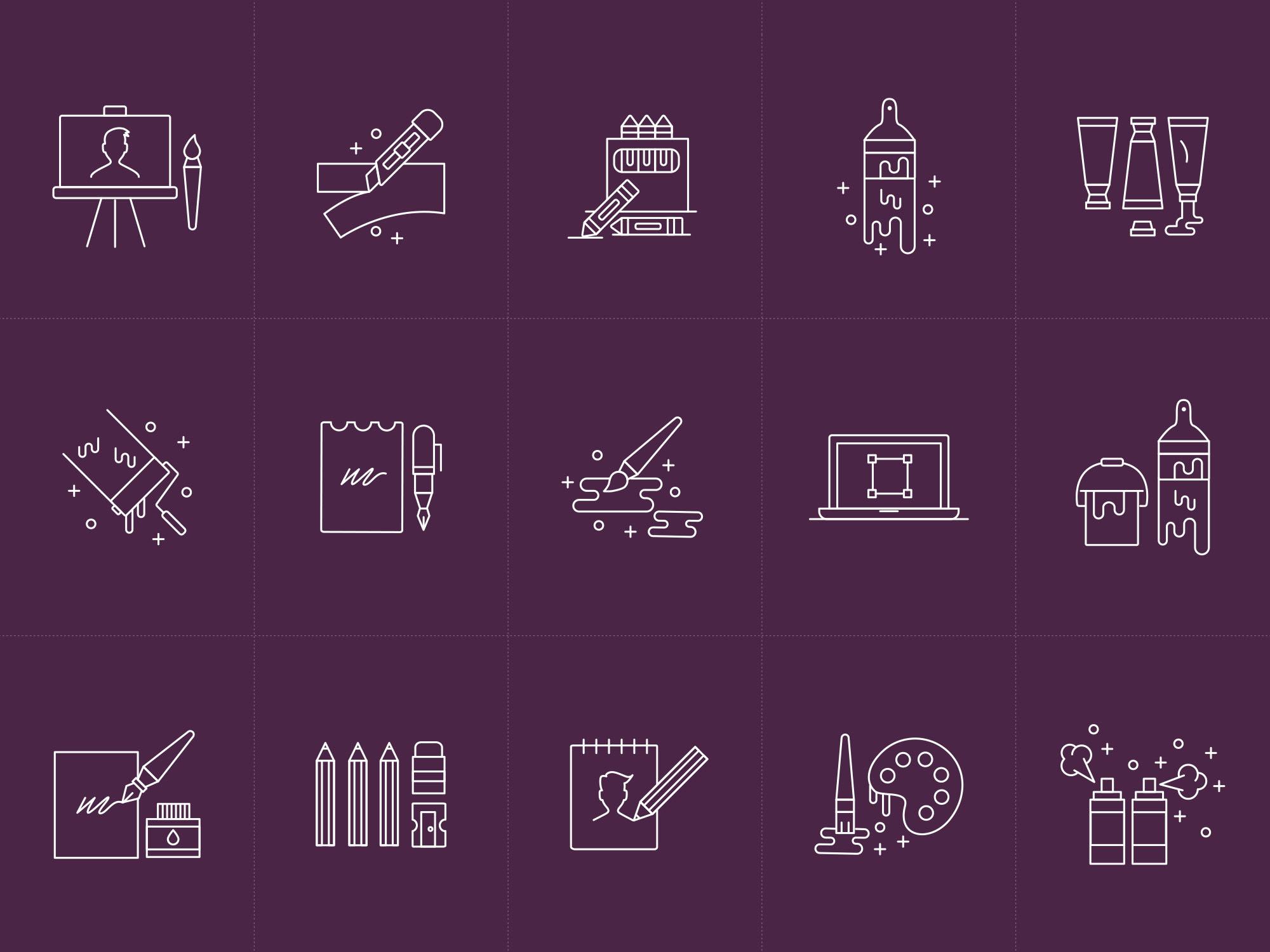 Design & Art Tools Icons 2