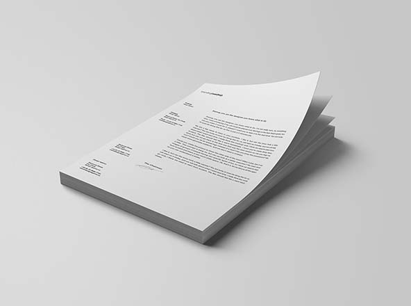 Stacked Letterheads Mockup