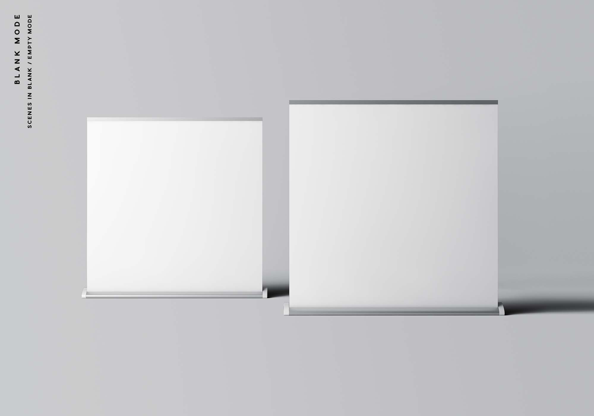 Wide Rollup Mockup - Blank Mode