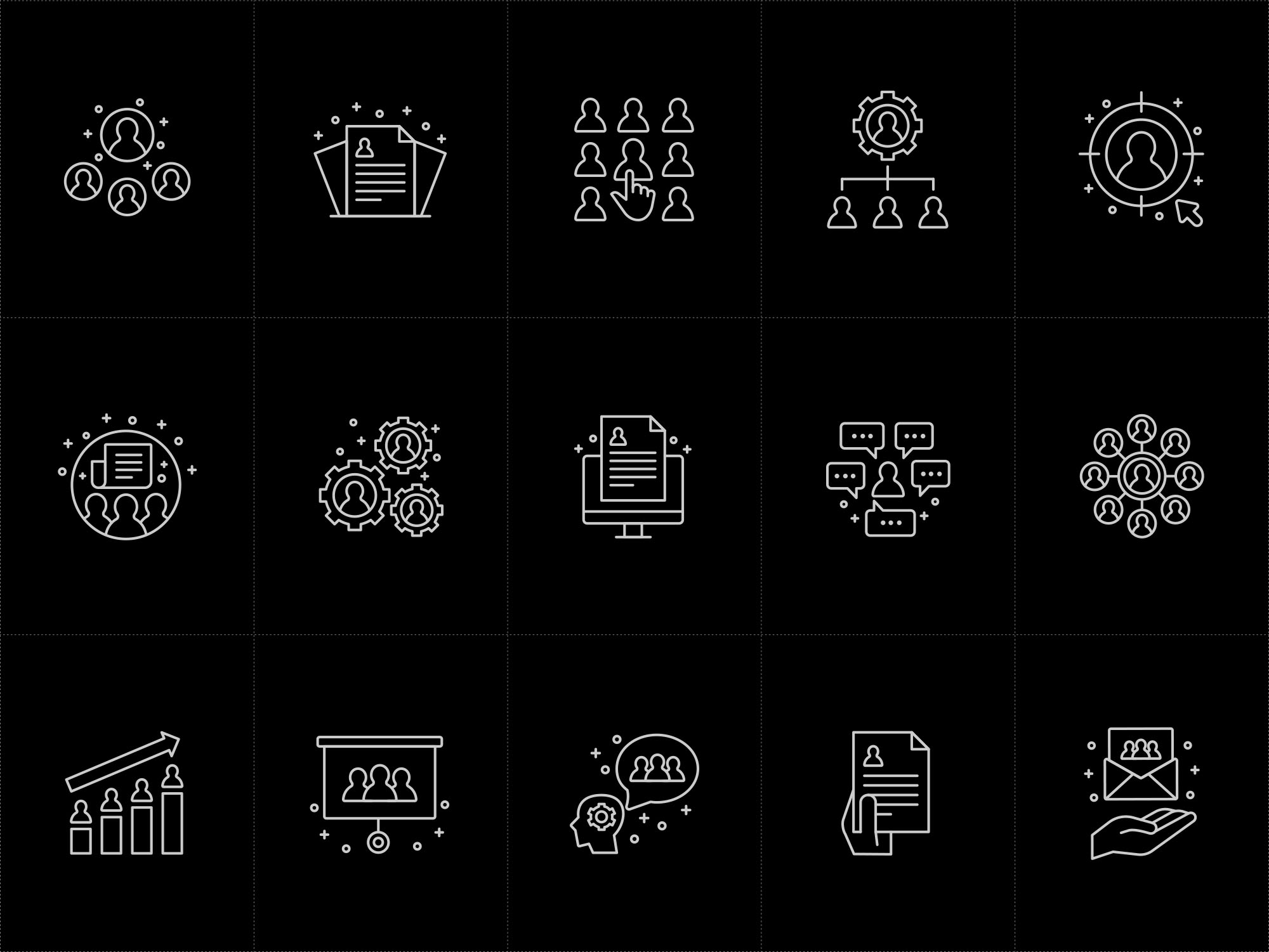 Human Resources Icons Black