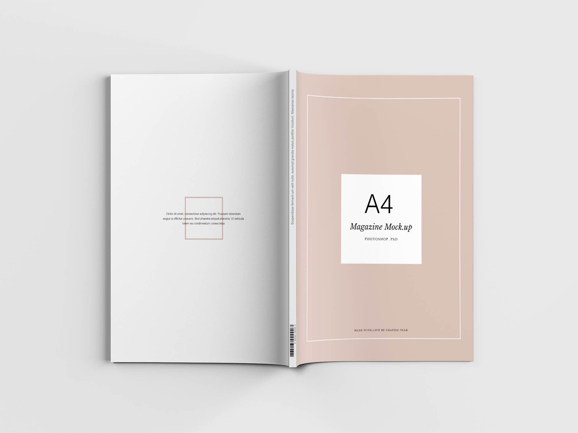 Minimal Magazine Mockup Top View