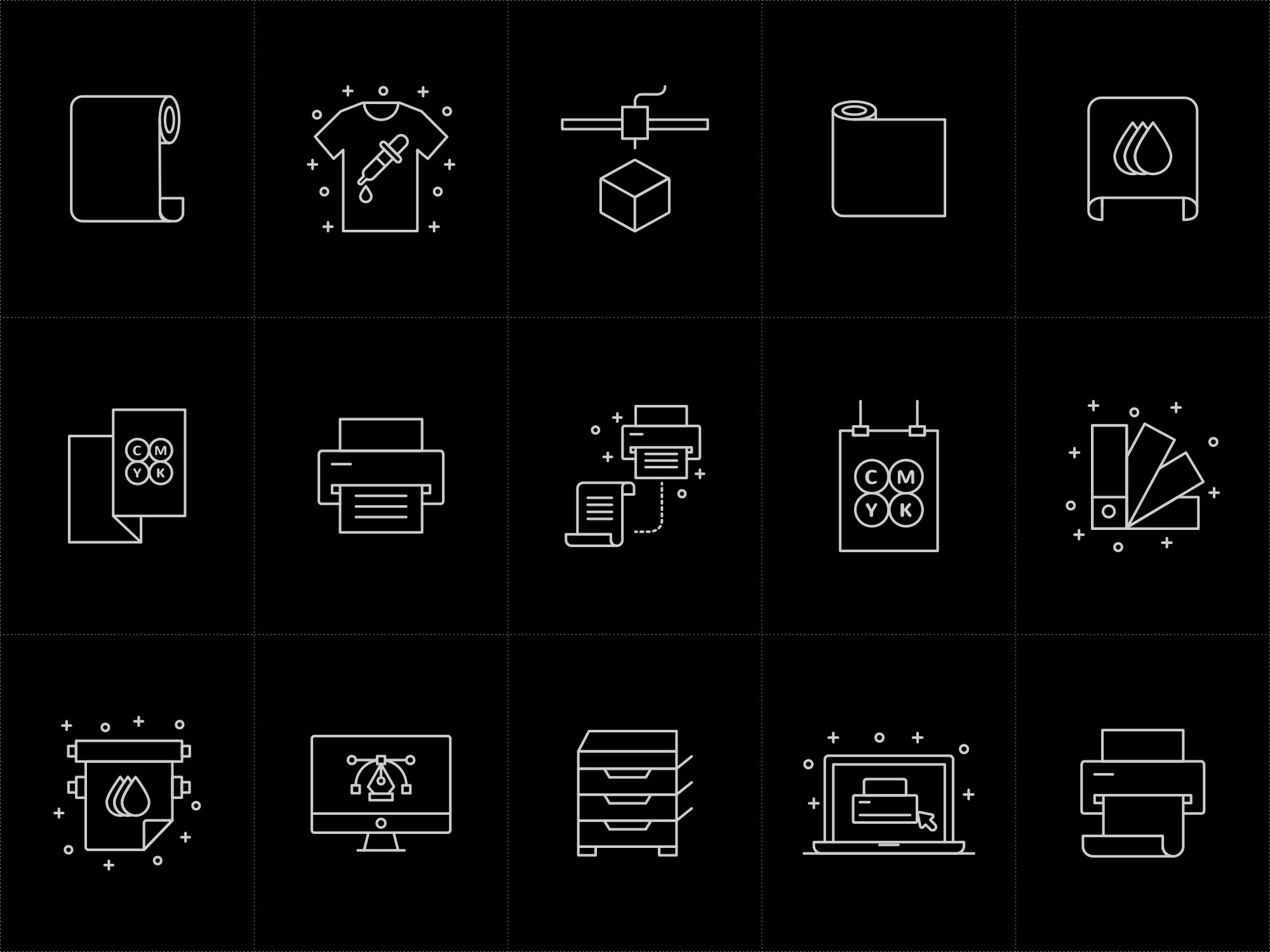 Printshop Icons - Black
