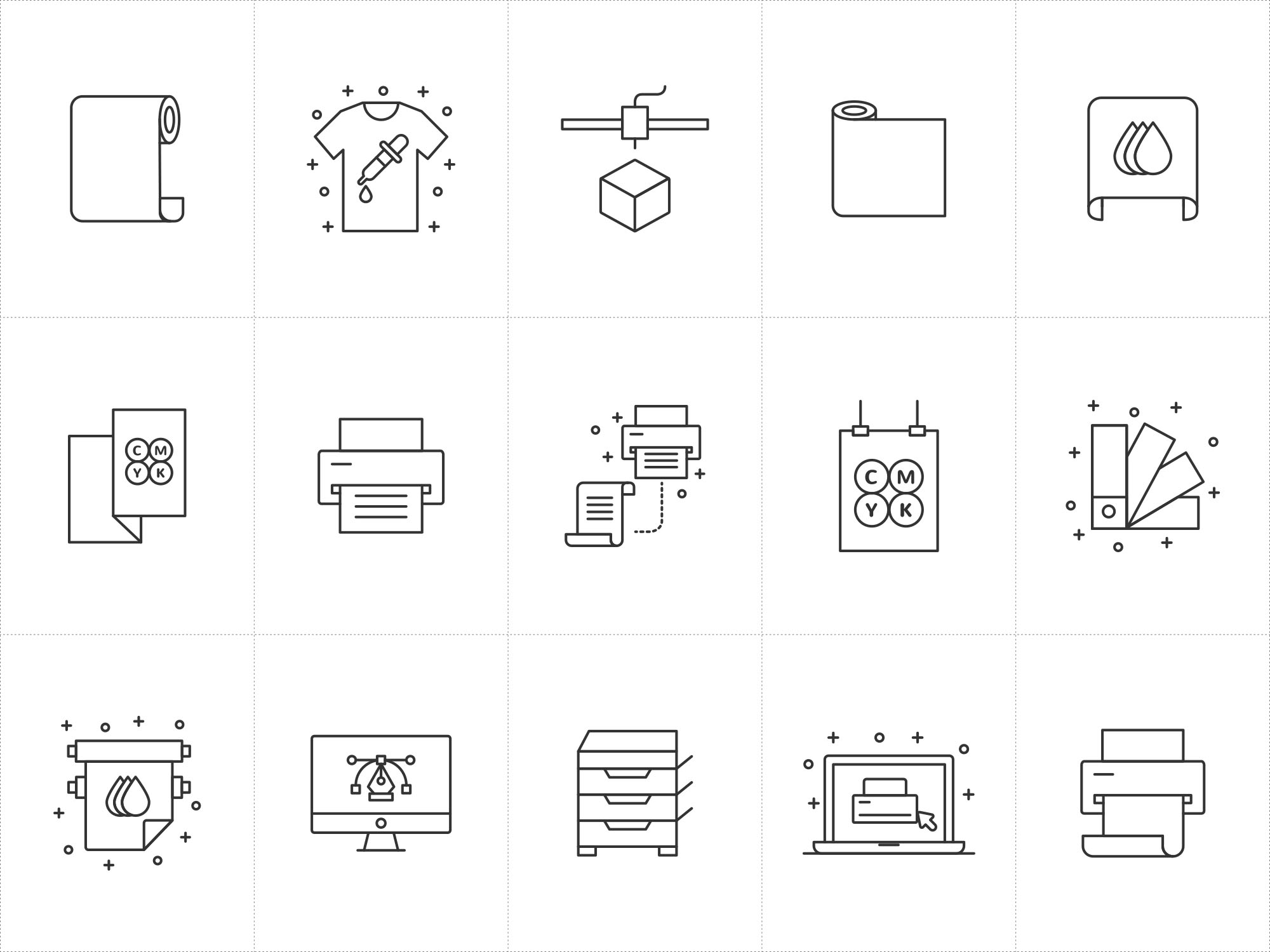 Printshop Vector Icons 1