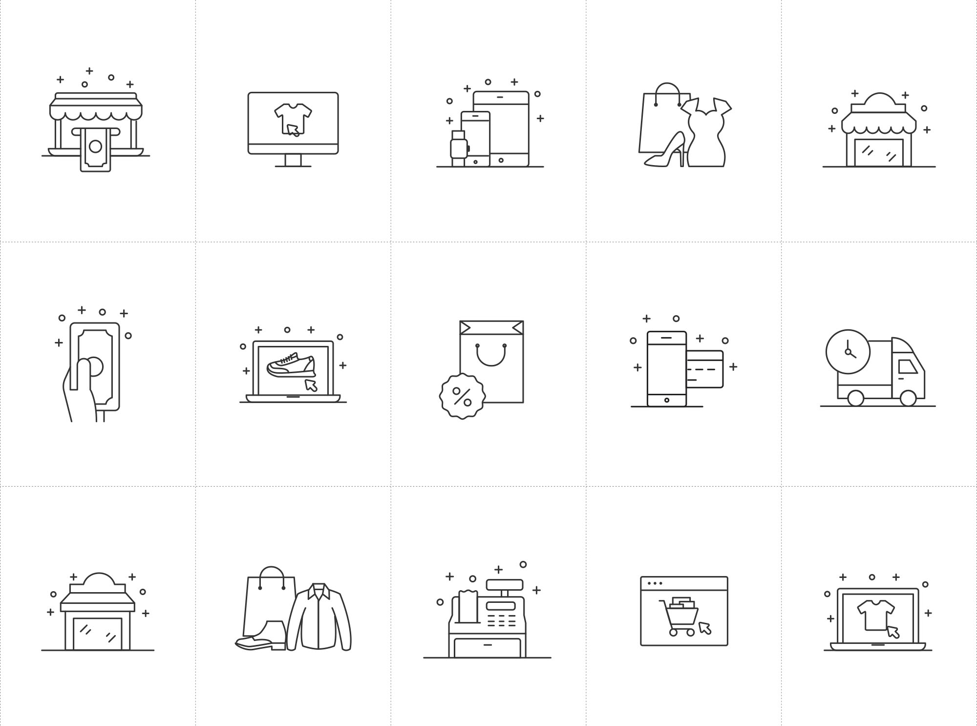 Shopping and E-commerce Icons 1