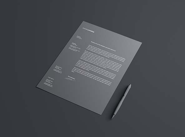 Simple Letterhead Mockup PSD