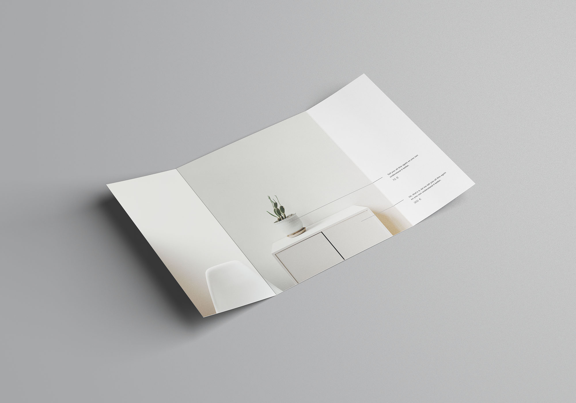 Single Gatefold Brochure Mockup 1