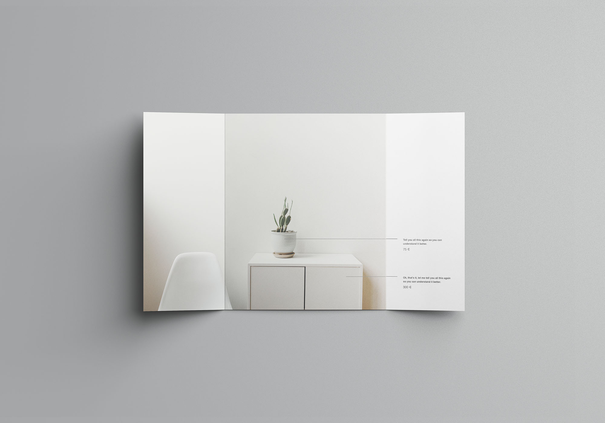 Single Gatefold Brochure Mockup 2
