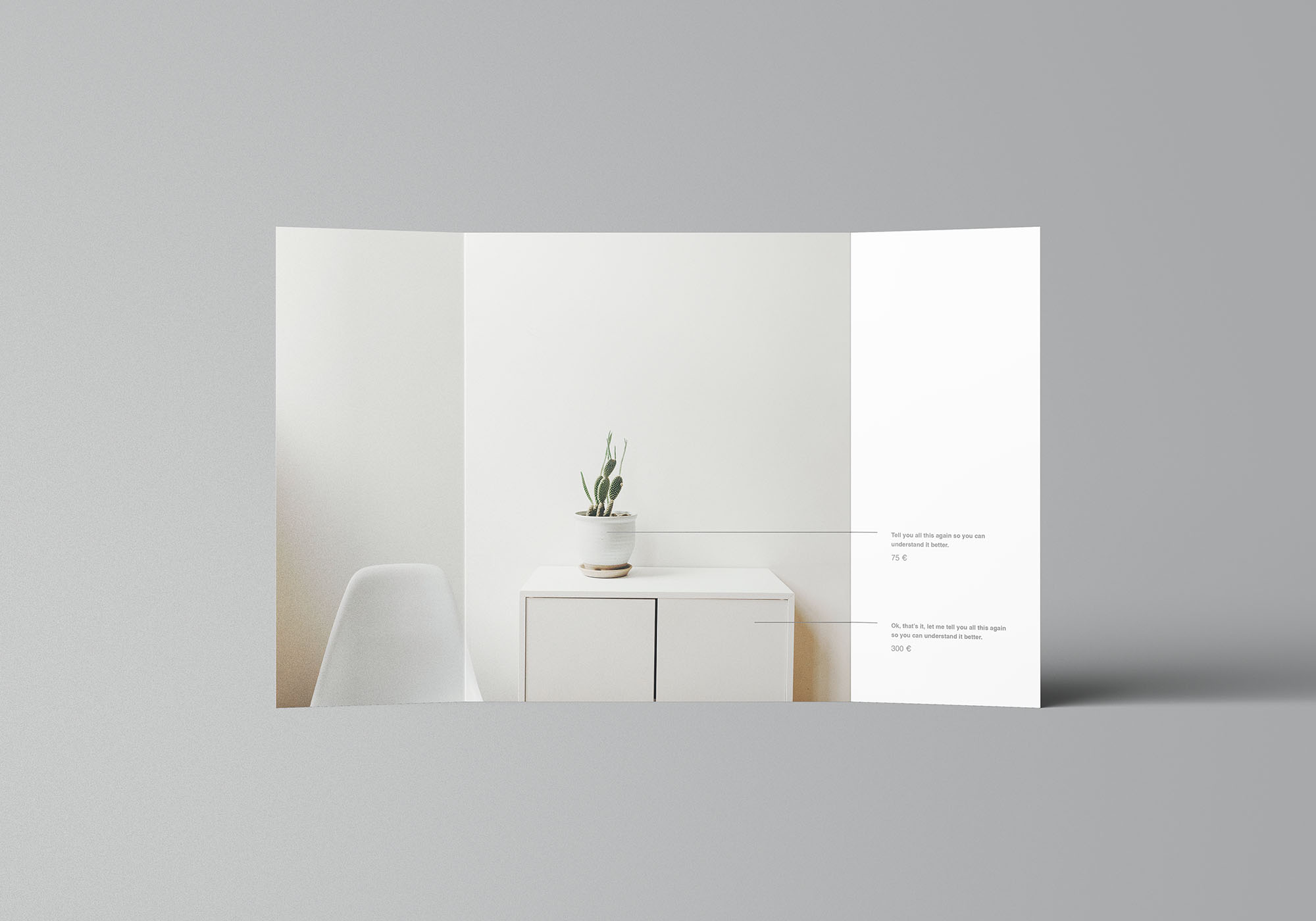 Single Gatefold Brochure Mockup 4
