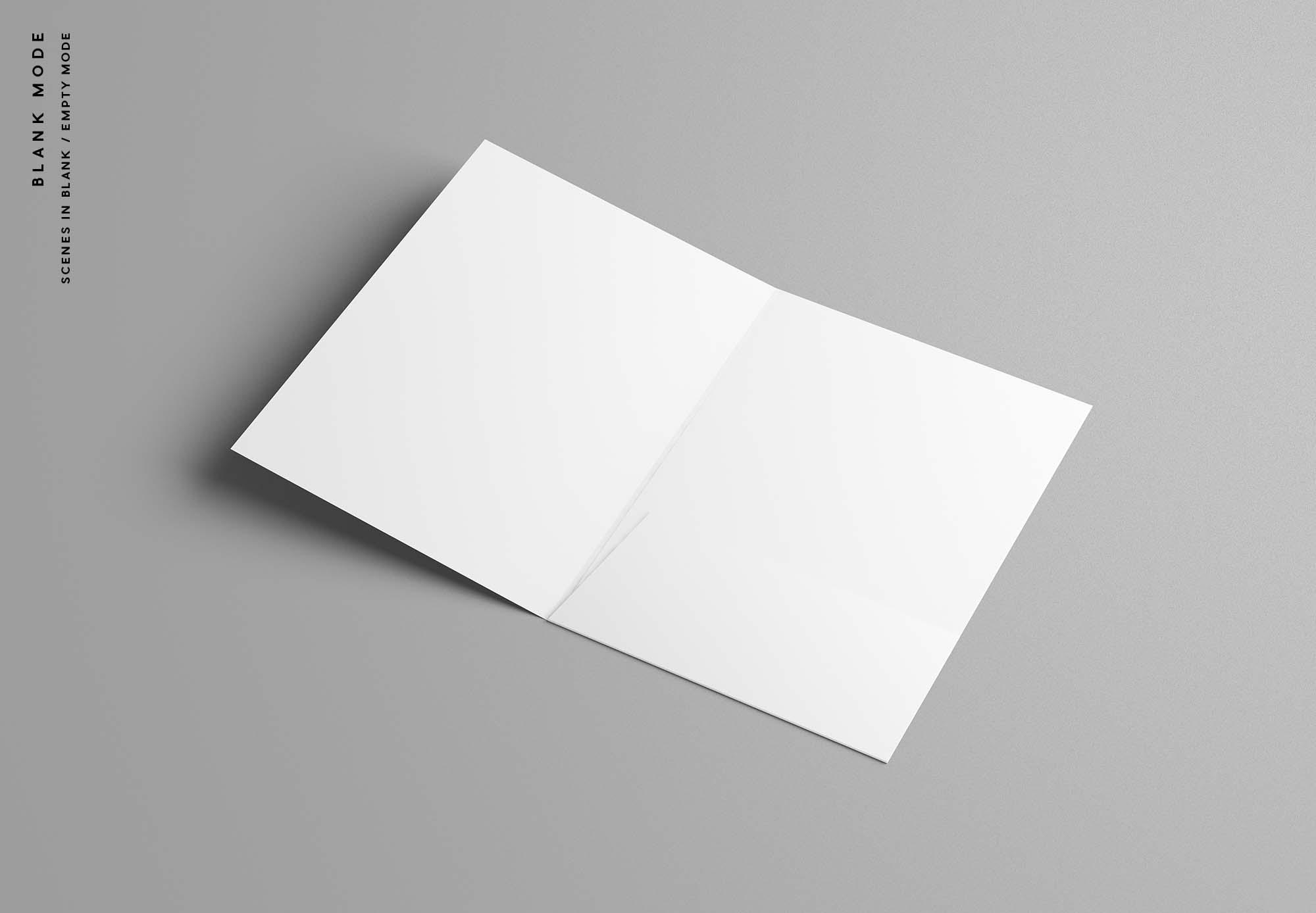 A4 Folder Mockup - Blank Mode
