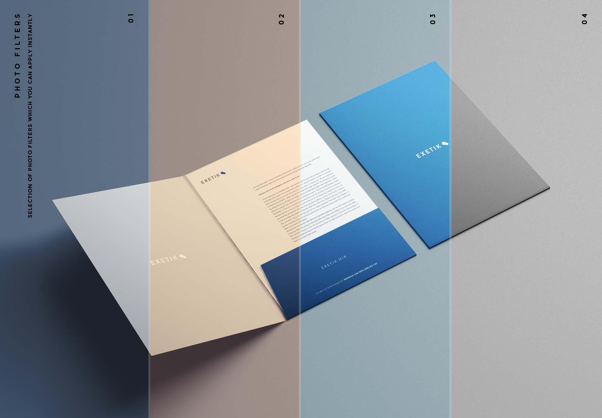 A4 Folder Mockup Filters