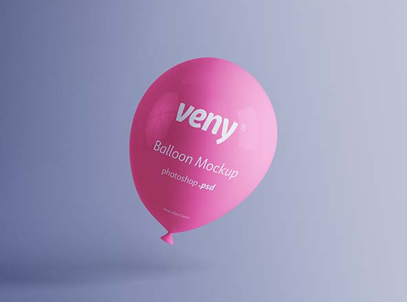 Transparent Balloon Mockup