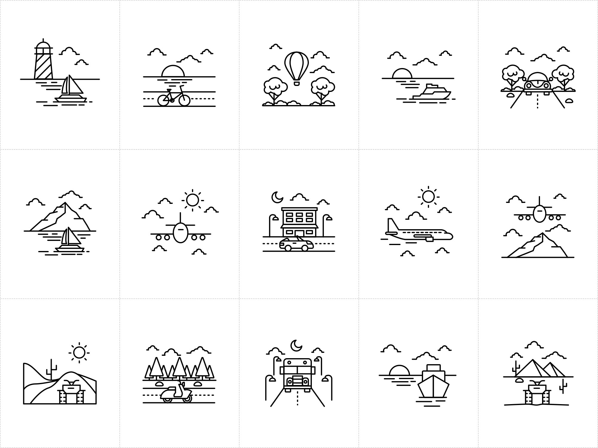 Vehicle Vector Icons