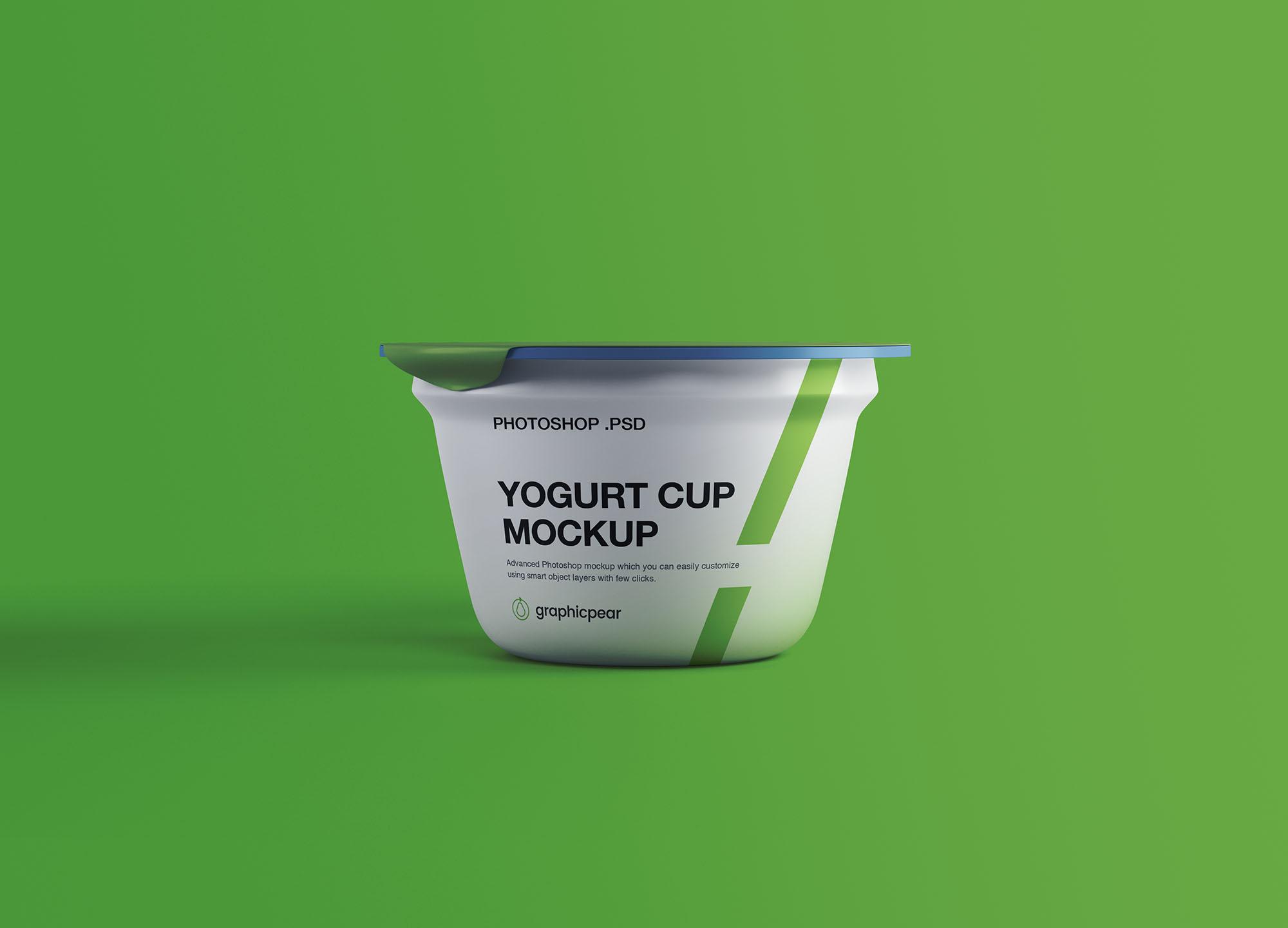 Yogurt Cup Mockup