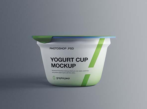 Yogurt Plastic Cup Mockup