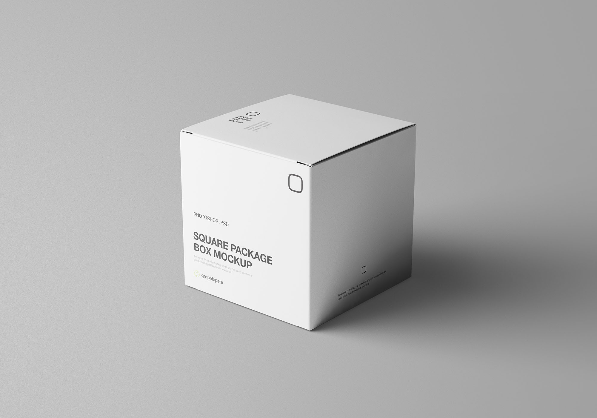 Square Package Box Mockup 2