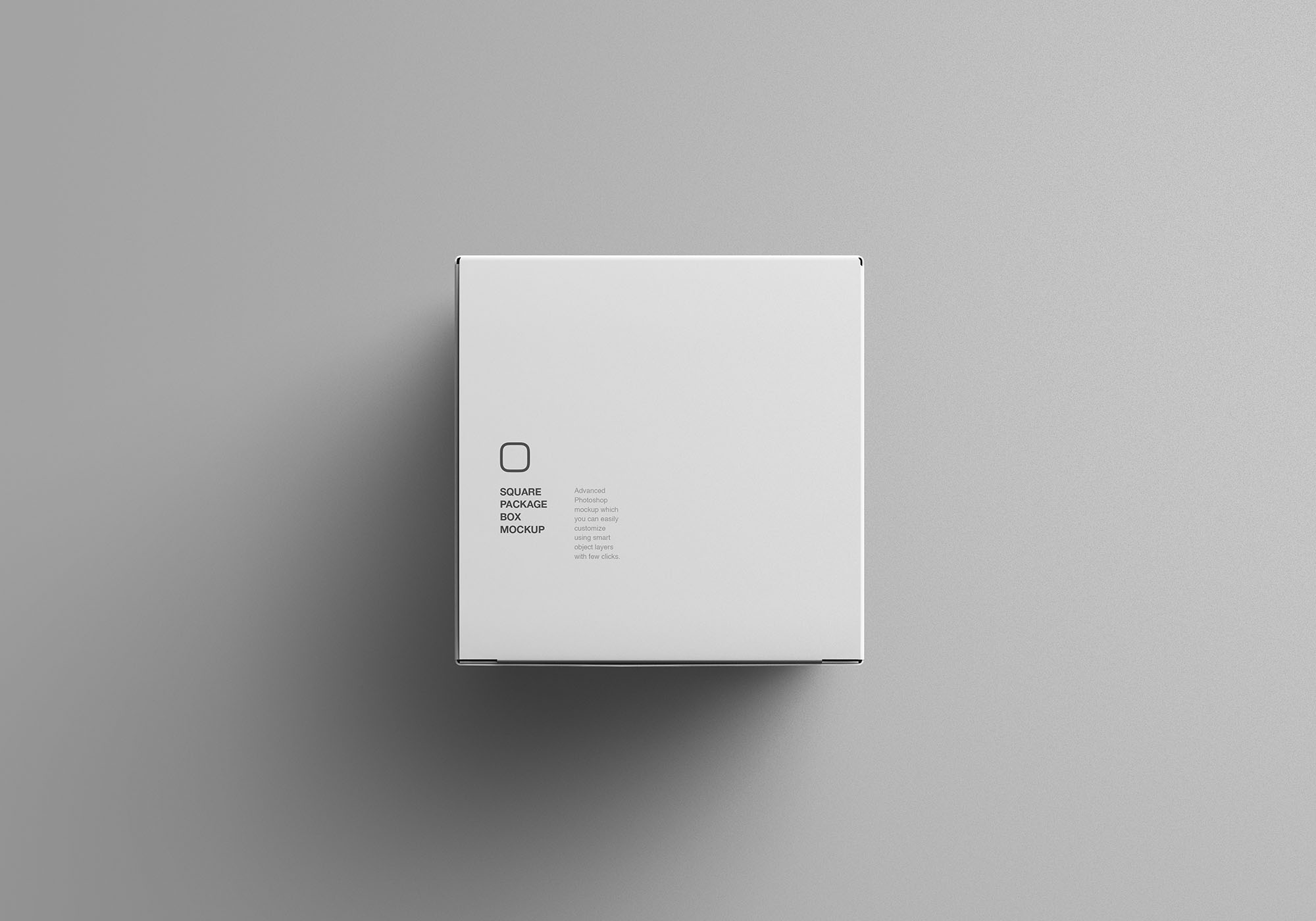 Square Package Box Mockup 4