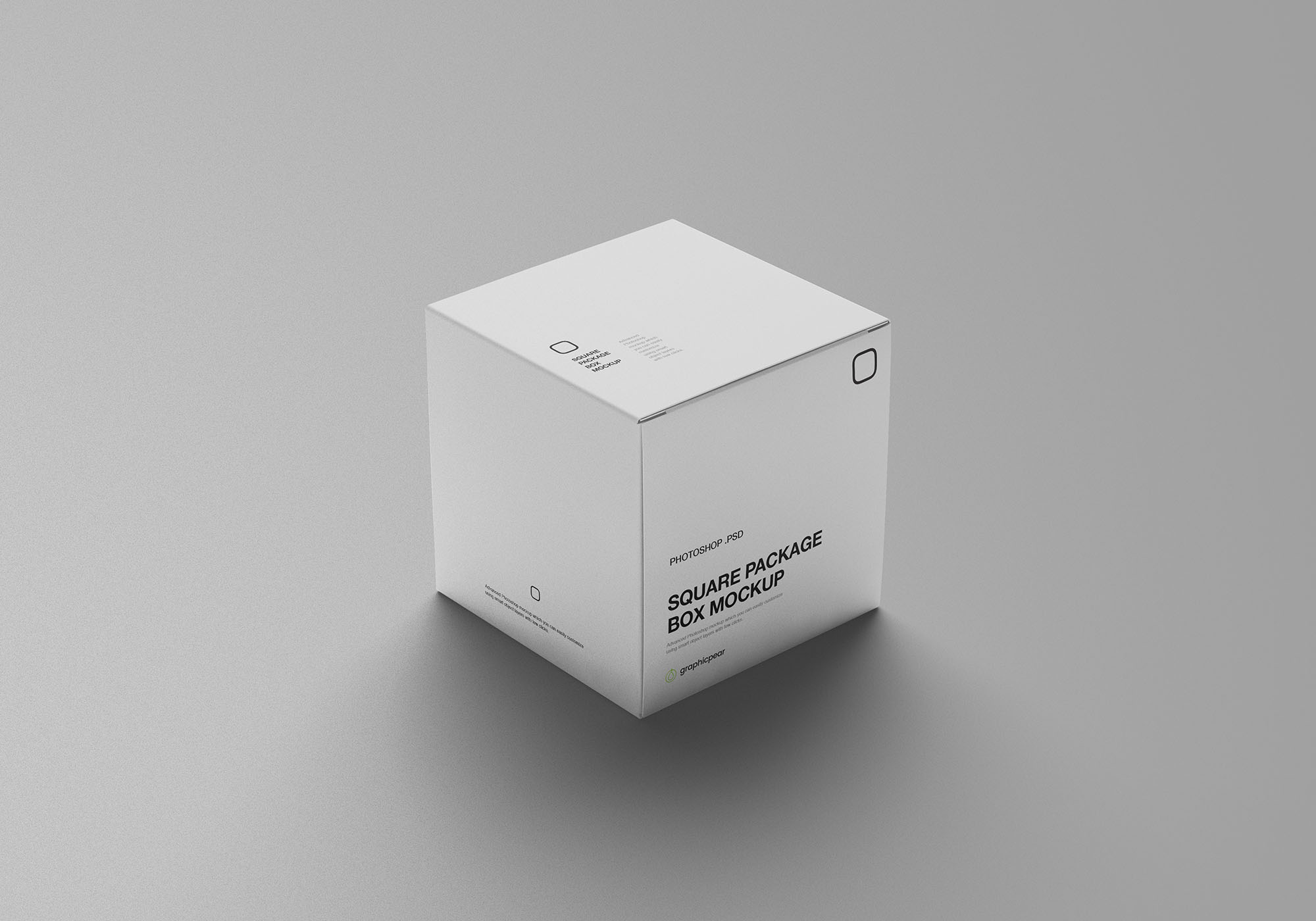Square Package Box Mockup 5