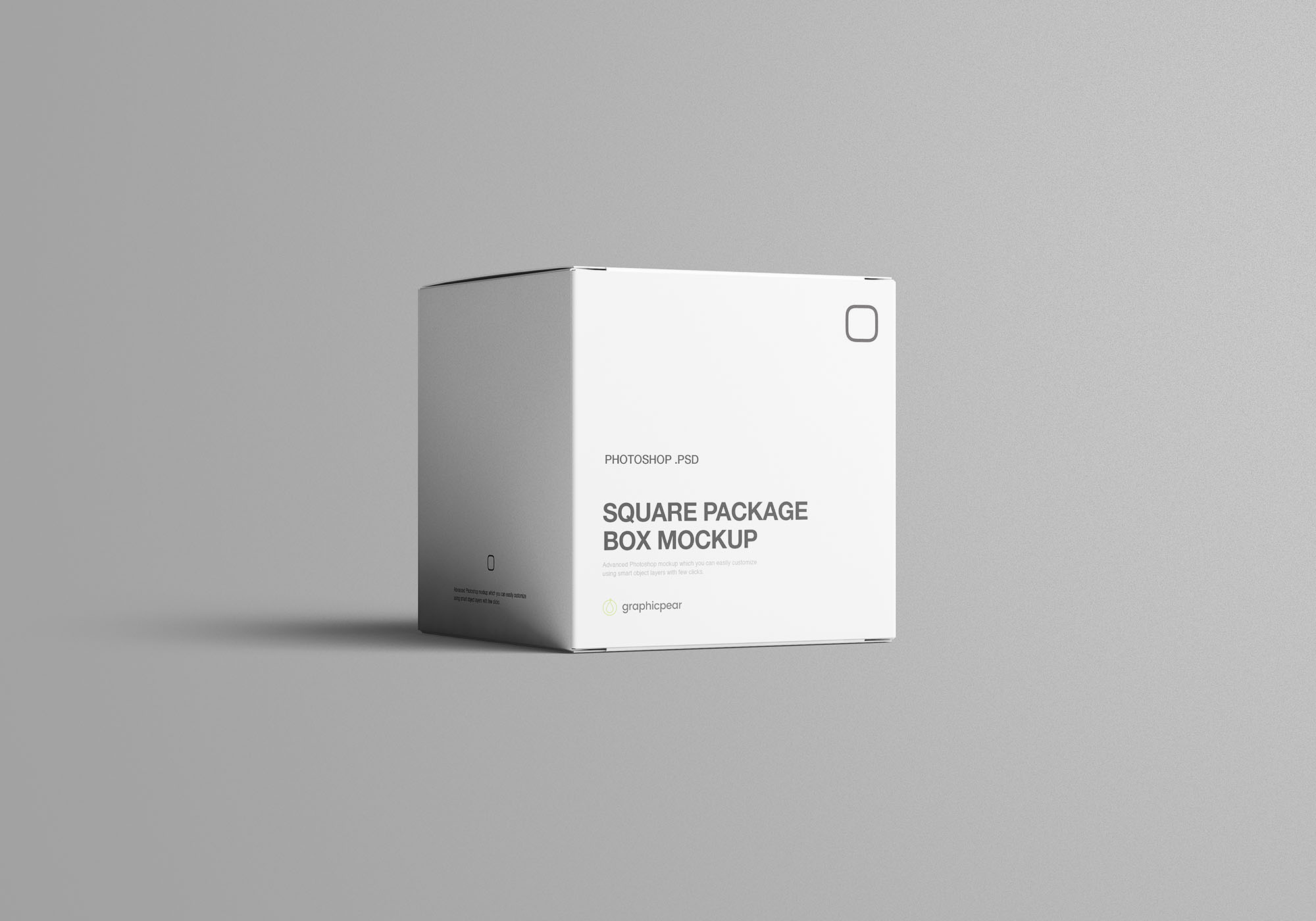 Square Package Box Mockup 6