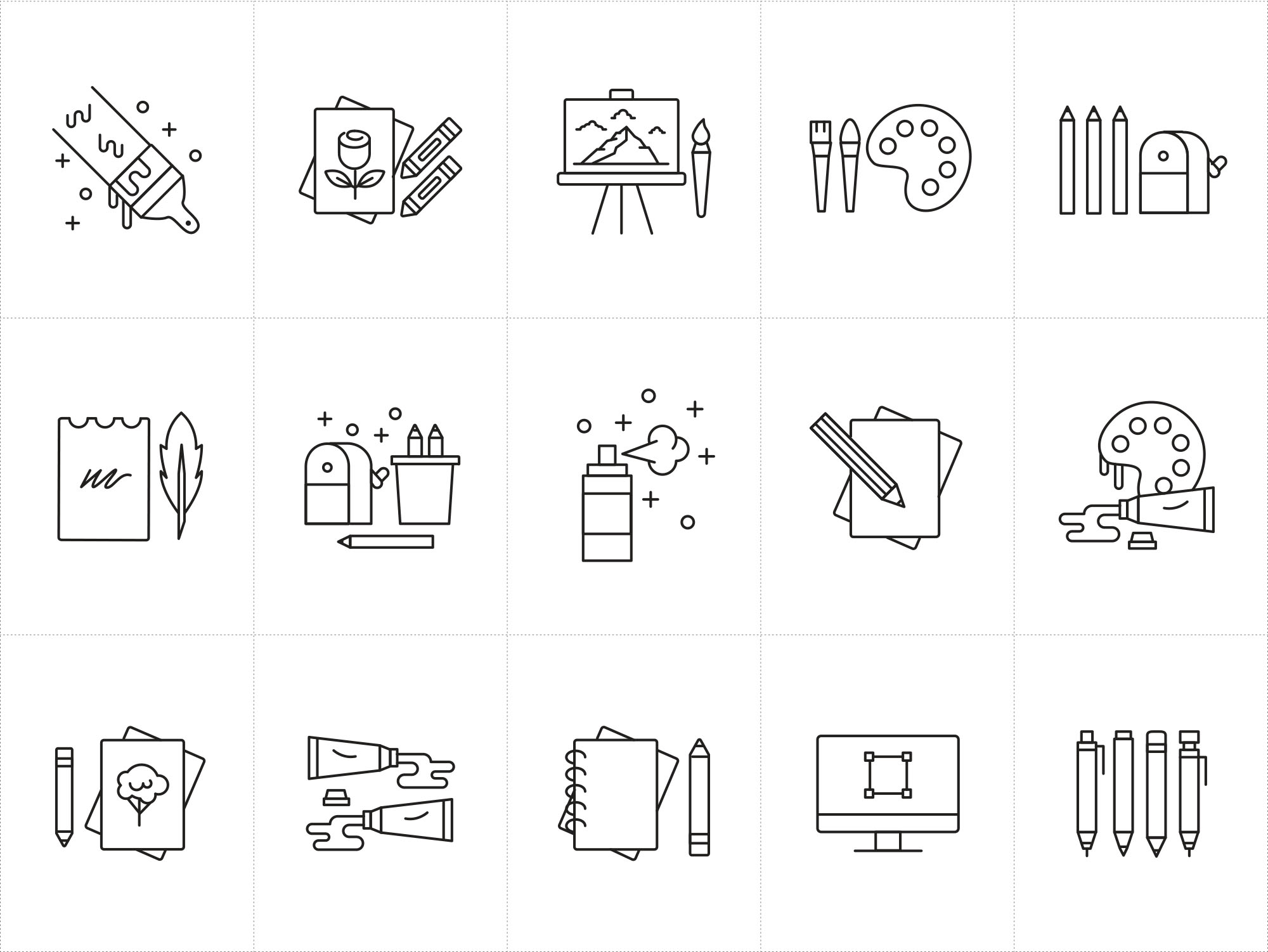 Artist Tools Icons Ai