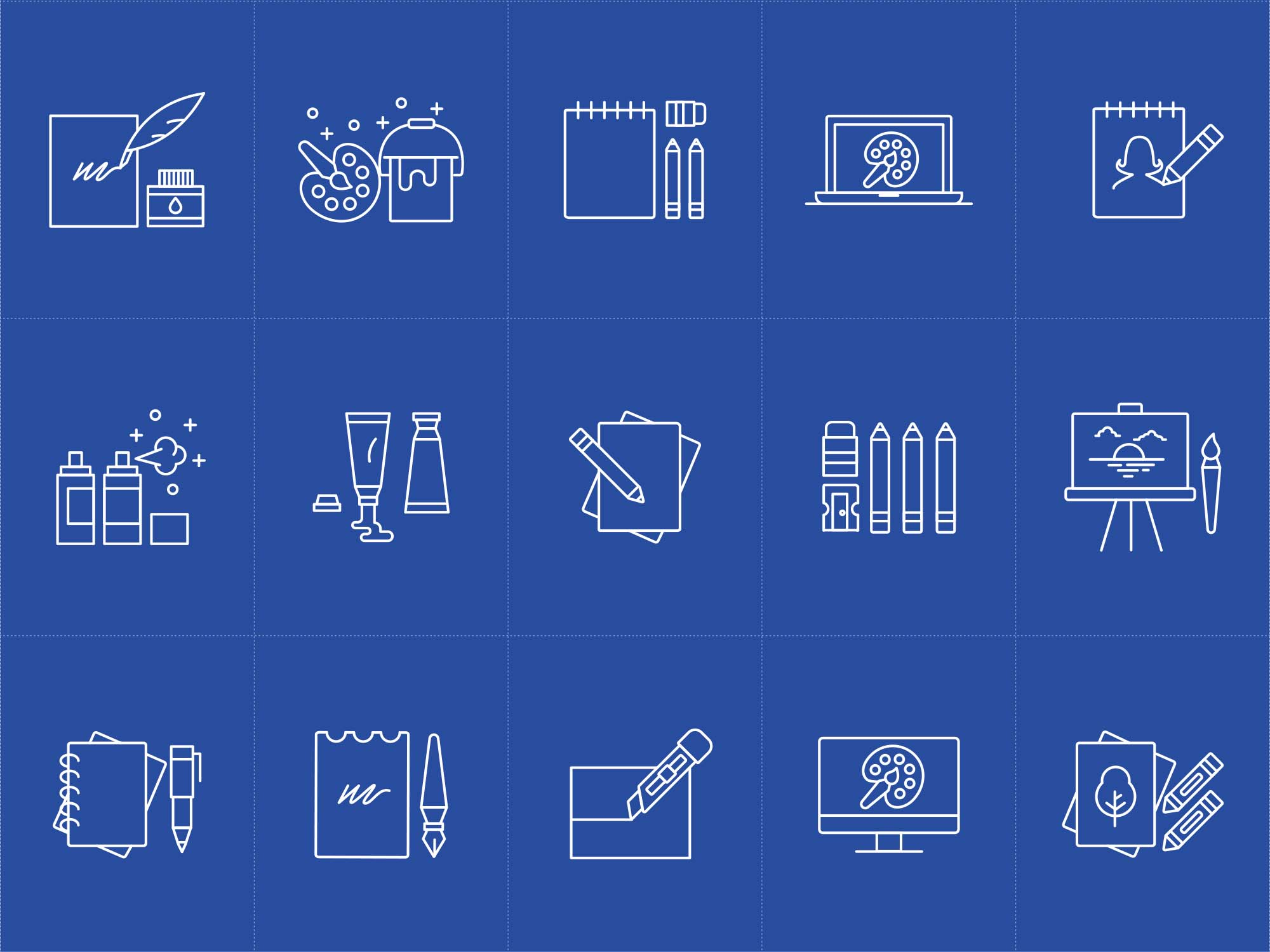 Artist Tools Vector Icons 1