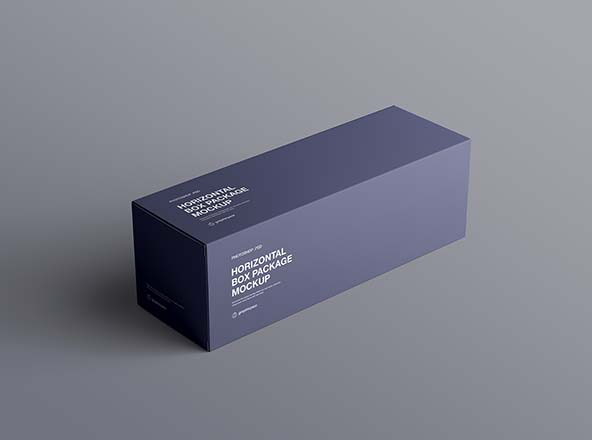 Horizontal Package Box Mockup