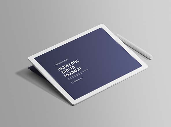 Isometric Tablet Mockup