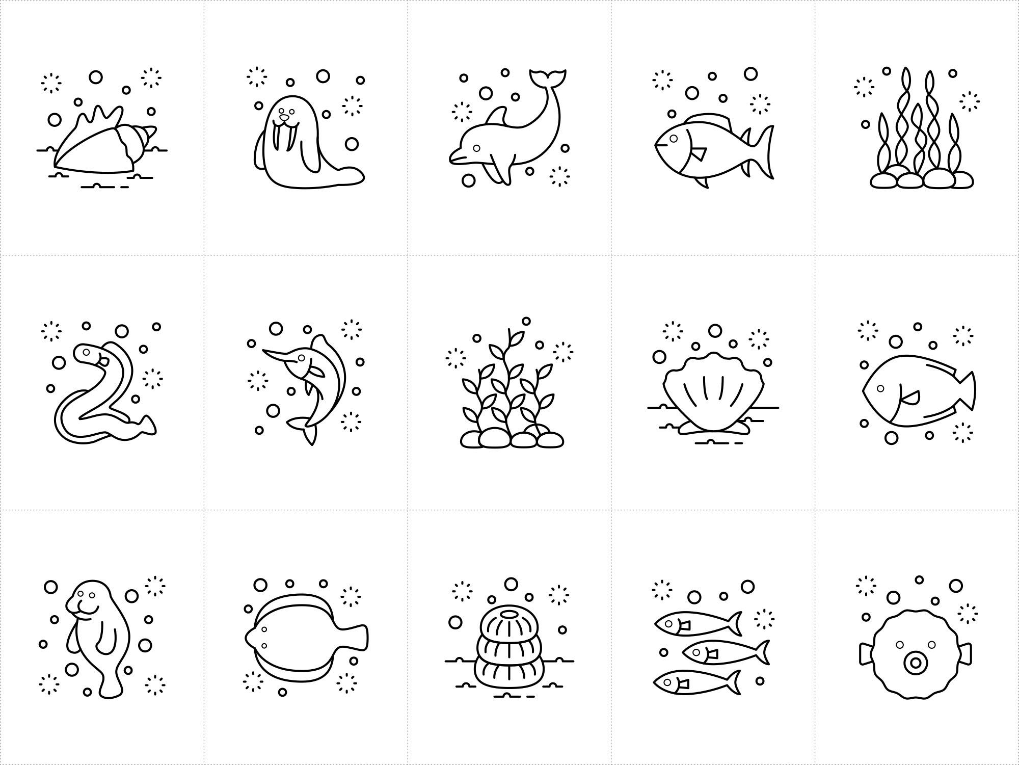 Ocean Vector Icons 2