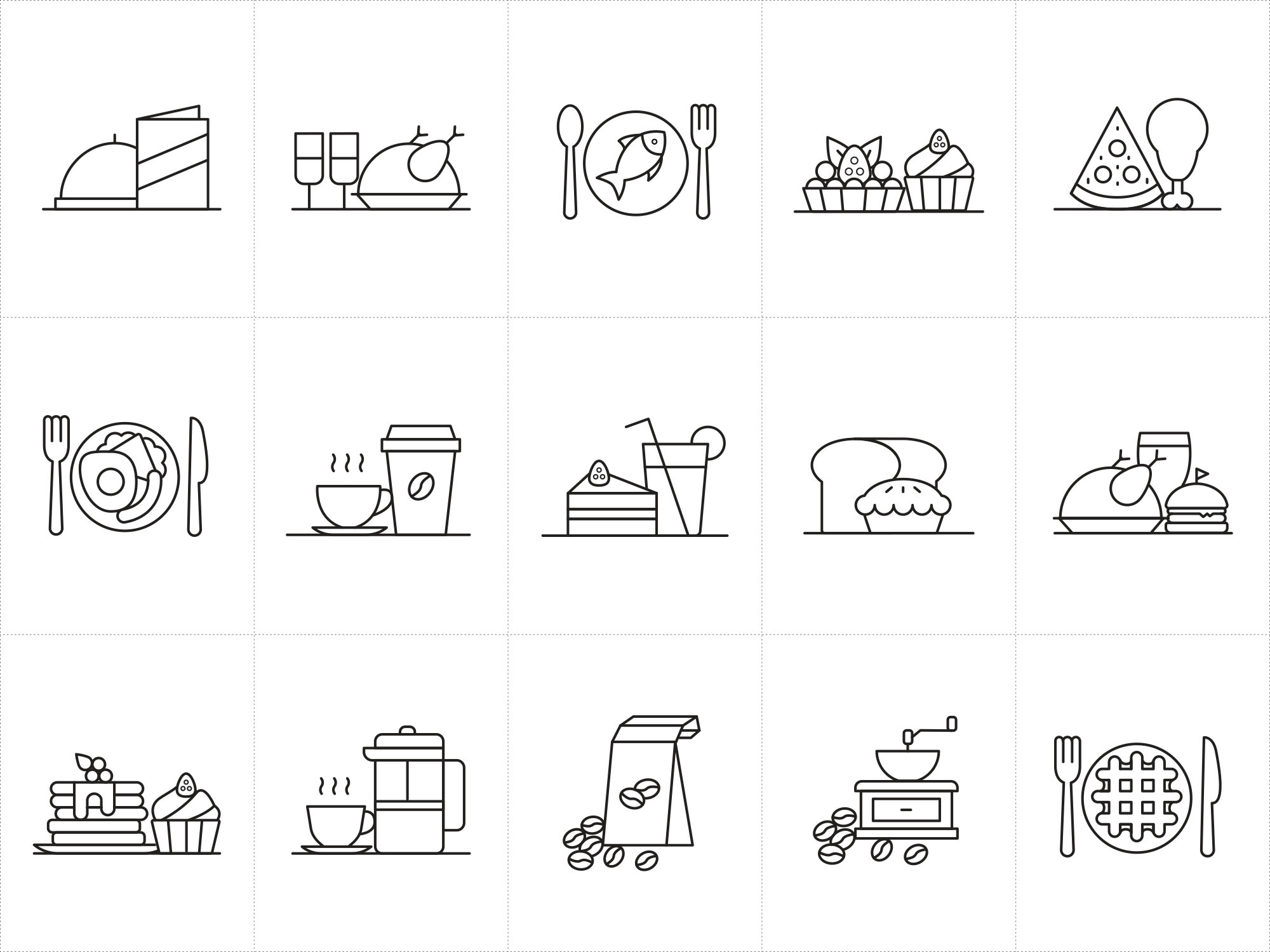 Restaurant Vector Icons